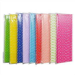 Mestieri di vacanza diy online-vent Party Holiday DIY Decorations 25pcs lot Lovely Polka Dot Paper Straws DIY Craft For Kids Birthday Favors Wedding Decoration Party P...