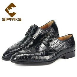 Formal Shoes 2018 Brown Black Crocodile Skin Leather Business Shoes Flats Lace Up Full Grain Leather Formal Casual Dress Shoes Wedding Boot With A Long Standing Reputation