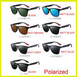 faring nero Sconti Commercio all'ingrosso nero opaco Obiettivo polarizzato di alta qualità Modo moda tariffa Occhiali da sole per uomo e donna designer Vintage Sport Occhiali da sole UV400