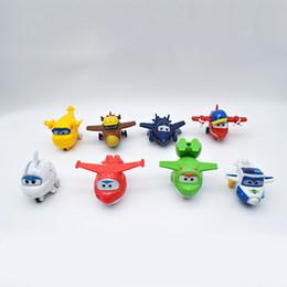 2019 superas asas 8 pçs / set Mais Novo Super Asas brinquedos Mini Planes Transformação Robô Figuras de Ação brinquedos do bebê brinquedos Para As Crianças de Presente Brinquedos superas asas barato