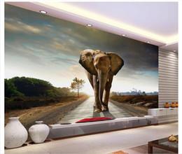 3D carta da parati personalizzata foto seta murale carta da parati Elefante soggiorno TV divano decorazione sfondo murale adesivo papel de parede da