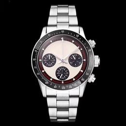 Marcas de relógios japonês on-line-Venda quente dos homens cronógrafo vintage perpétuo paul newman japonês de aço inoxidável de quartzo meless marca de moda relógio dos homens relógio de pulso