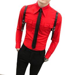 Новые модели галстуков онлайн-Весна 2019 Новая мужская модель Пустая форма рубашки мужской модели - без галстука