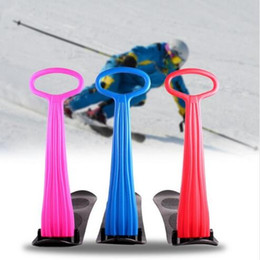 """Equipamentos de jogo ao ar livre on-line-""""Trotinette"""" de dobramento exterior do folheado do Snowboard do esqui para crianças adultas Neve Snow Sled Grip Handle Winter Playing Snow Equipment"""