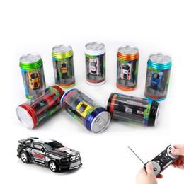 voiture micro rc Promotion Mini-Racer Télécommande Coke de voiture peut zip-top peut Mini RC Radio Télécommande Télécommande Micro Racing voiture jouets