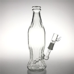 unique thick bong Coupons - New 9 Inch Glass Water Bongs with 14mm male Thick Pyrex Unique Bong Soda Bottle Style Heady Glass Recycler Beaker Bong for Smoking