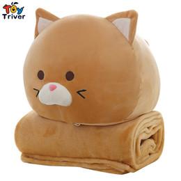 Gato gordo Triver Brinquedo De Pelúcia Portátil Cobertor Boneca Crianças Chuveiro Carro Car Condicionado Viagem Rug Escritório Nap Carpet Presente de Aniversário de