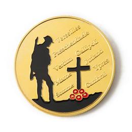 AUGKUN Chapado en oro Colección de arte conmemorativo de la Gran Moneda de Guerra Colección de Servicio como colección colectiva de regalos Recuerdos desde fabricantes