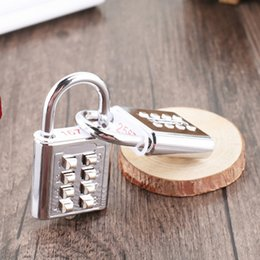 2019 corte de vado Número Botão de Bloqueio de Senha para Blind Mecânica Mini Bloqueio para Caixa de Gaveta de Bagagem Bloqueios de Segurança de Metal com Chaves