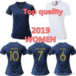 f072219c78c 2019 France MBAPPE GRIEZMANN POGBA women Soccer jersey Navy Football LEMAR  shirts Equipe coupe 2018 girl kit maillot de foot