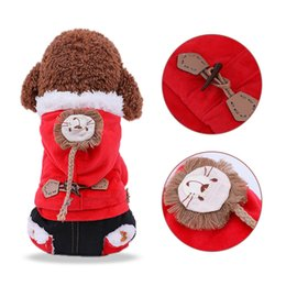 costume de chien Promotion Vêtements pour chien vêtements à capuche vestes d'hiver costume veste chaude en polaire gilet Velet chien moto gilet manteau vêtements manteaux fournitures animaux