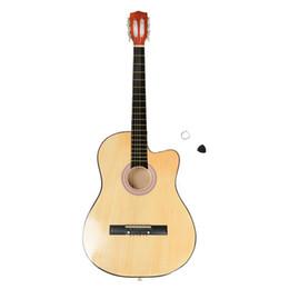 2019 voando guitarra branca 38 Inch Cutaway guitarra acústica com guitarra Plectrum Madeira Cor
