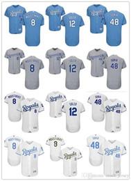 df2e18b94 custom Men women youth Royals Jersey 12 Jorge Soler 48 Joakim Soria 8 Mike    Moustakas Home Blue White Grey Baseball Jerseys mike moustakas jersey on  sale