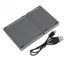 Wholesale Три раза Беспроводная Bluetooth клавиатура клавиш Складные Touch Pad Bluetooth Keyboard Black