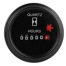 Contadores de tiempo online-Contador de horas mecánico Temporizador de contador Universal de alta precisión Temporizador de cuarzo sellado Contador de horas mecánico Calibrador DC6-80V