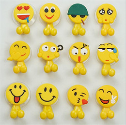 funny cups Coupons - Cute funny emoticons Cartoon suction cup toothbrush holder hooks bathroom set accessories