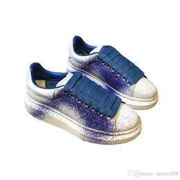 2019 scarpe firmate per sneakers in pelle delle donne uomini di modo riflettente velluto bianco nero suola spessa piatto aumentante di altezza del