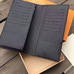 kits de embrague al por mayor Rebajas Famosa marca mujeres titulares de la tarjeta pasaporte carteras de cuero genuino 19 cm alta calidad Brazza monederos con caja A93 envío gratis 60017