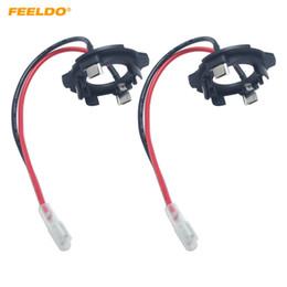 Adaptateur de phare en Ligne-FEELDO 2x Voiture H7 LED Phare Retenues Clip Support pour Volkswagen Golf5 MK5 GTI Jetta Base Ampoule Socket Adaptateur # 5932