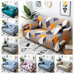 Sofás individuais on-line-40 Designs estiramento Slipcovers secional Elastic estiramento Sofa Cover for Living Room Couch tampa em forma de L assento Poltrona capa do single / dois / três
