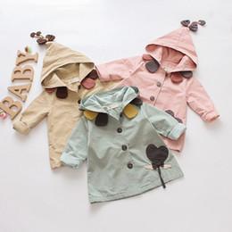куртка пальто верхняя одежда девочка младенец малыша дети с капюшоном повседневная 100% хлопок весна осень 9 12 24 месяца 3 т розовый зеленый бежевый от