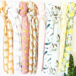 toalla de siesta Rebajas mezcle 11 colores toallas de baño Ins algodón orgánico caricatura impresa toallas de baño infantil multifunción envoltura de la siesta manta toweling Swaddling