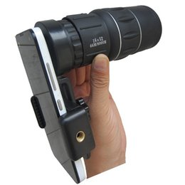 2019 telecamera di visione notturna 16x52 Mini Phone Telescope Lens Monoculare Dual Focus Optics Zoom Telescope Day Low Night Vision Clip On Camera Lens telecamera di visione notturna economici