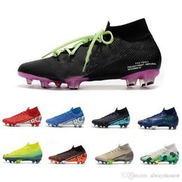 sapatos cr7 crianças pretas Desconto 2020 Mens Mercurial Superfly VII 7 360 Elite SE FG Meninos Womens CR7 Ronaldo Neymar MDS 001 002 Chuteiras Futebol Botas Grampos