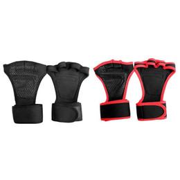 2019 guantone china 1 paio Guanti sollevamento pesi Anti-saltare palestra guanti mezze dita Sport Esercizio Bodybuilding Formazione attrezzature per il fitness
