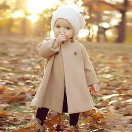 vestido floral de pele falsa Desconto Crianças Baby Girl Floral Faux Fur Fleece Inverno Quente Casaco Tench Outwear Vestido Outono E Inverno Novo Estilo Crianças Jaquetas Bebê