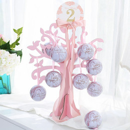 Süßigkeiten ball bevorzugung boxen online-Hochzeit Gunsten Candy Box Baum Hochzeit Dekoration Glück Ball Baum Weihnachtsfeier Zubehör Candy Baum Hängen 40 * 40 CM