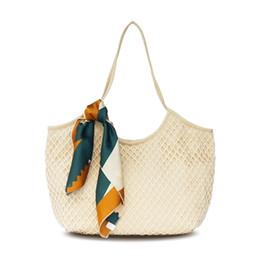 2019 Yeni tasarım kadınlar plaj çantası ilkbahar yaz bayanlar tuval örgü çanta Omuz Çantası ücretsiz kargo cheap canvas spring shoulder bag nereden kanvas omuz çantası tedarikçiler