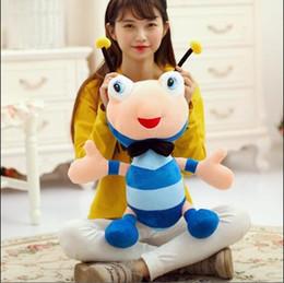 подушка куклы подруги Скидка WYZHY милый муравей пчела кукла плюшевые игрушки талисман подарок кукла подушка отправить подруга дети подарок 50 см