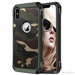 2019 funda protectora de camo iphone Cubierta trasera del patrón de camuflaje Camo del ejército para iphone 6 6s 7 8 Plus X Xs Funda protectora para el teléfono con armadura Hard XR Max X X