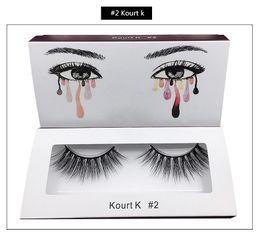 kit complet pour extensions de cils Promotion Kylie 3D Cils De Vison Pleine Bande Cils Épais Faux De Vison Cils Naturel Long Faux Cils À La Main Faits Faux Cils Cosmétique Vente chaude