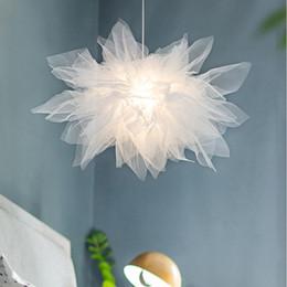 lâmpadas da sala da princesa Desconto Nórdico Romântico Tecido de Renda Pingente Luminárias Luminárias pingente lâmpada Led Lâmpada Pendurada para a Princesa Sala de estar Quarto Home Art Decor