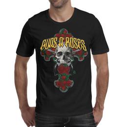 2019 rosas a granel Guns-N'-Roses-Excalibur Camiseta para hombre camisas negras Camisetas personalizadas Cool Esign Superhero Bulk Shirt Black rosas a granel baratos