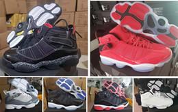 2019 шесть французских 2019 новые шесть 6 кольца мужские баскетбольные кроссовки французский синий прохладный серый черный серебристо-серый альтернативный Oreo хамелеон 6s спортивная обувь 40-45 скидка шесть французских