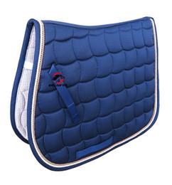 Tapis de selle pour cheval avec livraison gratuite, toile de selle, polyester 300G, passepoil pour corde de doulbe, avec dragonne (PD007) ? partir de fabricateur