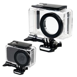 xiaomi camera esporte de ação Desconto Novo preto à prova d 'água case kit de montagem para xiaomi mijia mini 4 k action camera esporte camera