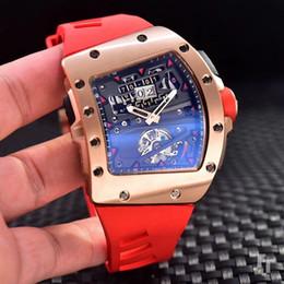 Relógio de homem multi-elementos de moda com movimento mecânico automático importado, caixa de aço inoxidável 316, espelho de vidro de safira de