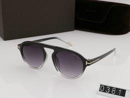 Top de luxo grande qualtiy Nova Moda 0381 Tom Óculos De Sol Para O Homem mulher Erika Eyewear Óculos de Sol Da Marca Designer de Óculos de sol com caixa original tom de