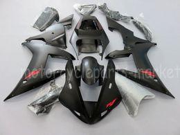 kit de corpo yamaha r1 preto Desconto Injeção Matte Black Fairing Corpo Trabalho Kit Para Yamaha YZF R1 2002-2003 02 03