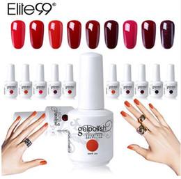 Elite99 15 Ml Vino Rojo Color Polaco En Gel Esmalte De Uñas De Gel De Larga Duración Remojar Uv Gel Laca Barnices Diy Nail Art Design