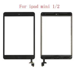 mini obiettivo ipad Sconti Per tasto home pannello digitalizzatore con IC schermo mini iPad mini iPad 2 di tocco e la sostituzione adesivo DHL di spedizione libero