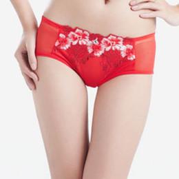 dia dos namorados sexy Desconto Mulheres Underwear Lingerie Sexy Rendas Fino Bordado Imprimir Briefs Respirável Mid-rise Calcinha Presentes Do Dia Dos Namorados Novo