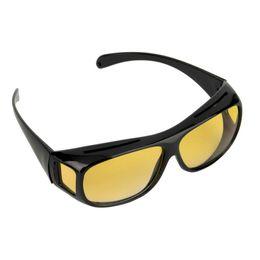 Óculos de visão noturna para adultos on-line-Atacado Adulto Visão Noturna Óculos de Condução Vision Driver de Segurança Óculos De Sol Clássico UV 400 Protetora