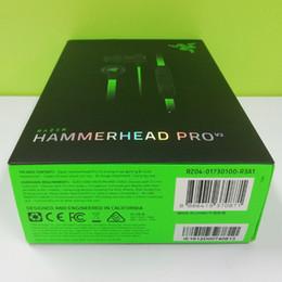 2020 cuffie di razer Cuffie Razer Hammerhead Pro V2 di alta qualità Auricolare con microfono Cuffie da gioco Isolamento acustico Stereo Bass drop ship free cuffie di razer economici