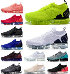 2018 New Chaussures Moc 2 Laceless 2.0 Shoes Triple Designer Mens Sneakers donna Fly White knit Cuscino ammortizzatore sportivo Sneaker Zapatos da