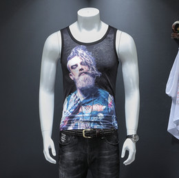chalecos de seda Rebajas Camisetas sin mangas de hombresEn el verano de 2019 chaleco con mangas cortas ma3 jia3 tejido de seda con hielo, artículo nº 816, P35